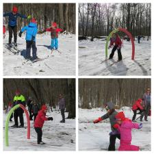 PACCSA Yellowjackets youth team having fun in the snow