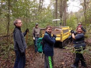 Laurel Mountain workday volunteers