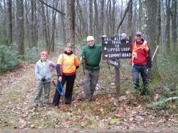 PACCSA volunteers working on the Laurel Mountain ski trails in 2015