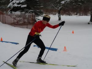 Pamela McCormick racing to her 3rd consecutive PA Nordic Champion title!
