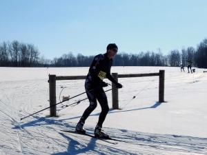 Photo of Sheldon Degenhardt leading the race