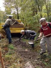 Laurel Mountain workday volunteers